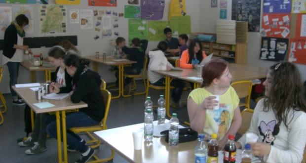 Besuch von der AOK im Rahmen unserer Bildungspartnerschaft