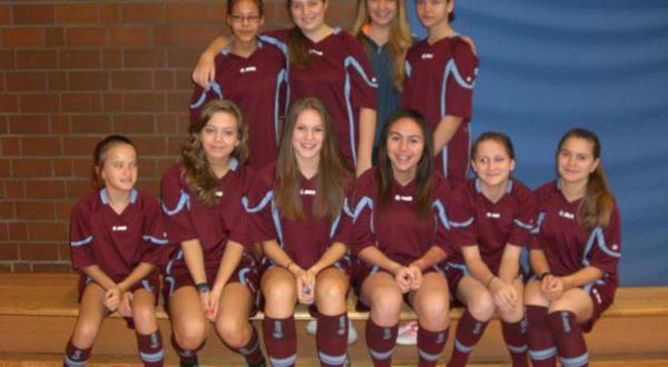 Fußballgirls in der Kraichgauschule Mühlhausen