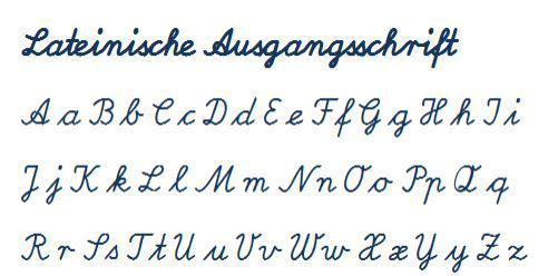 Verbundene Schrift in der GS
