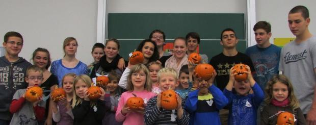 Halloween-Party mit der Klasse 1