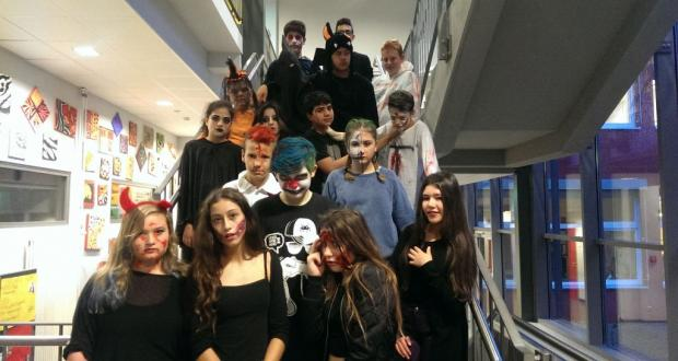 Pausen-Halloweenparty...