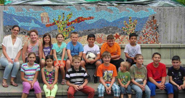Mosaikbild für den Schulhof